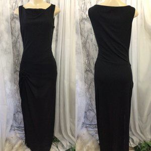 David Meister Black Sleeveless Maxi Dress. ( 8 )